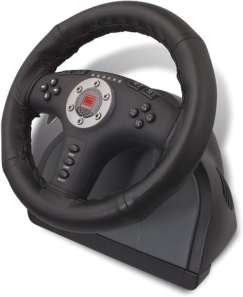 2in1 Force Vibration Racing Wheel (PC + PS2)